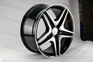 18x8 5 9 5 Staggered Mercedes Benz Amg Black Rims Wheels Fits E350 E500 S550