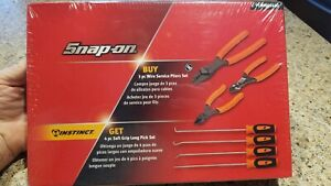 New Sealed Snap On Orange Wire Service Pliers Long Pick Combo Set plwiresglo