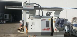 Haas Sl20 Cnc Lathe Turning Center Auto Parts Loader Robot Pallet Changer Mill