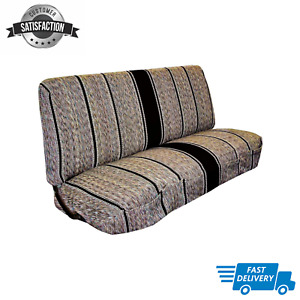 New Saddle Blanket Truck Bench Seat Cover Fits Chevrolet Dodge Ford Trucks Black
