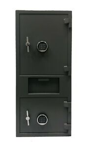 Double Door Drop Safe With High Security Electronic Lock With Key Backup