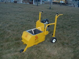 Landscape Curbing Machine Curb King Twin Auger 3 Hp Honda Made In The Usa