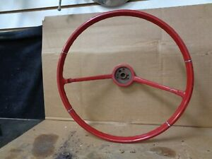 1966 Chevrolet Chevelle Steering Wheel Red Used Take Off Repurpose