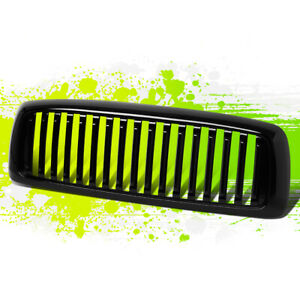 Glossy Black Vertical Bumper Grille Grill For Dodge Ram 1500 02 05 2500 3500 03