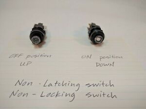 C k Schadow Switch Dpdt Non latching Push Button Sleepy Eyes Winking White Eye