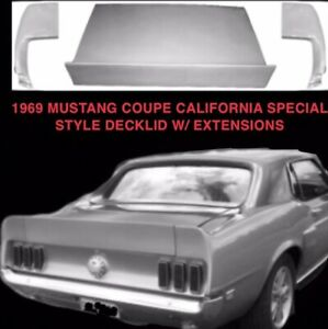 1969 Mustang Coupe Conv Decklid W End Caps Cali Spec Shelby
