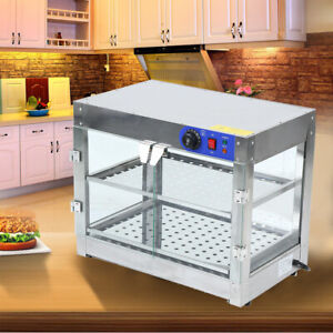 Samger 2 tier Commercial Countertop Food Pizza Warmer Display Cabinet Case 750w