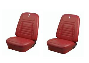 1968 Camaro Coupe Front rear Deluxe Red Seat Upholstery 48 Folding Rear Seat
