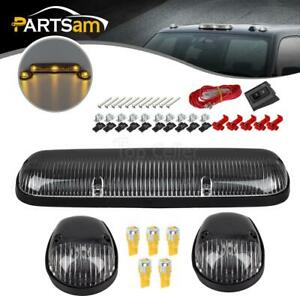 3pcs 264155cl Clear Cab Roof Running Lights 194 5730 Amber Led For Chevrolet gmc