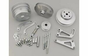 March Performance Pulley Kit Serpentine Aluminum Silver Sbc Kit 22031 09
