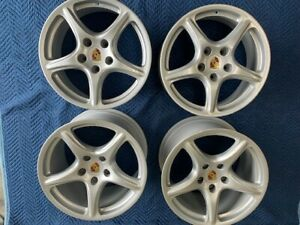 Porsche 911 997 Oem Carrera 19 Bbs Wheels With Colored Center Caps Wide Body