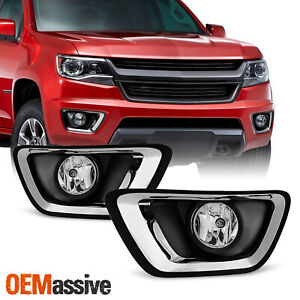 Fits 15 20 Chevy Colorado Bumper Fog Lights Replacement W Switch harness bulbs