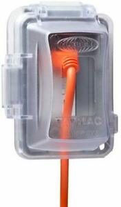 Plastic Weatherproof Electrical Box Cover 1 Gang