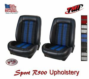 Sport R500 Front Bucket Seat Upholstery 1968 69 Mustang Coupe Fastback Vert