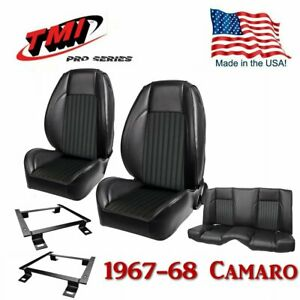 Tmi Pro series Front rear Seat Kit With Brackets For 1967 1968 Camaro Coupe