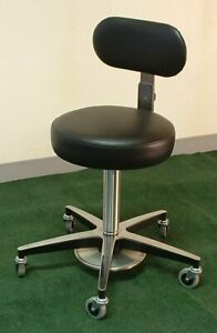 Foot Adjustable Medical Stool With Back