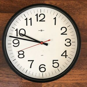 Howard Miller Office Quartz Wall Clock Mid Century Modern Vintage For Parts