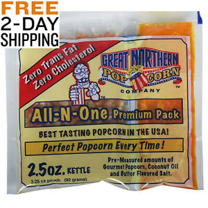 Great Northern Popcorn Premium 24 Case 2 5 Ounce Portion Pack Buttery Flavor