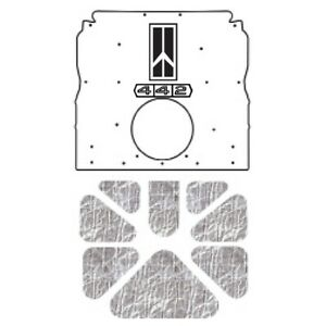 Hood Insulation Pad Heat Shield For 1970 Olds A Body Induction W G 075 442 Logo