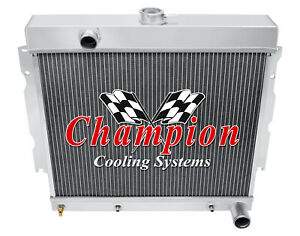 3 Row Wr Champion Radiator 22 Core For 1963 1967 Plymouth Fury V8 Conversion