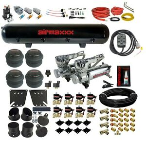 Air Ride Suspension Kit For 58 64 Impala Valves 7 Switch 580 Chr Compressor Tank