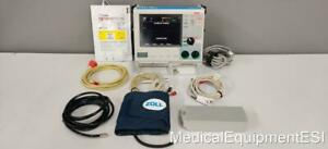 Zoll M Series Cct Biphasic 3 Lead Ecg Spo2 Nibp Aed Pace 001 Patient Monitor