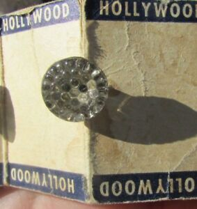 Antique Buttons Glass Flower Lacy Faceted Art Deco Hollywood Lot Original Card