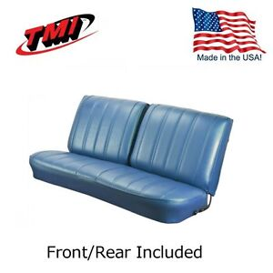 1966 Chevelle Coupe Blue Front rear Bench Seat Upholstery By Tmi