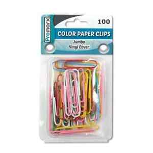 Promarx Jumbo Paper Clips Assorted 100 Count