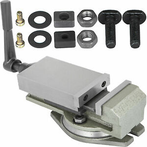 3 Precision Mill Vise W Swivel Base Milling Drilling Machine Bench Clamp