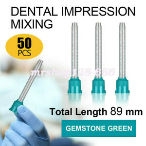 50pcs Hp Dental Green teal Mixing Tips 1 1 6 5 Mm Impression For Bite Recording