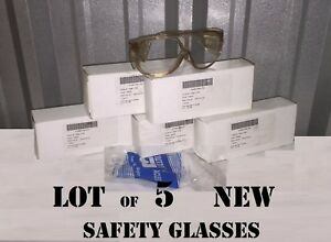 Lot Of 5 Hl Bouton Us Military Industrial Safety Glasses Eyepro Side Shields Z87