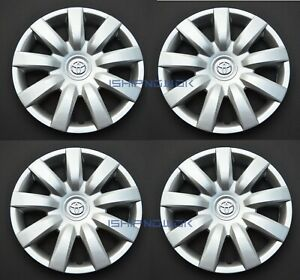 Set 4pcs 15 Wheel Cover Rim Hubcap Fits 2000 2012 Camry Corolla Wheelcover