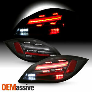 For 2009 2012 Porsche Boxster cayman 2nd Led Sequentail Signal Black Tail Light