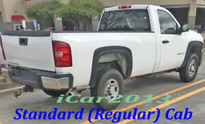 Fender Flares For 2007 2013 Chevy Silverado Reg Extended Cab Std Long Bed