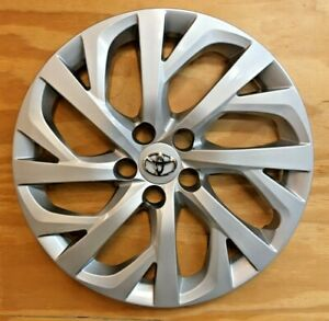 1x Silver Hubcap Will Fit Your 2017 2018 2019 Toyota Corolla 16 61181