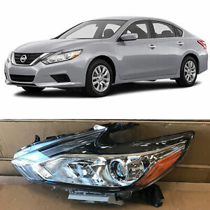 Headlight Replacement For 2016 2018 Nissan Altima Halogen W o Led Left Driver