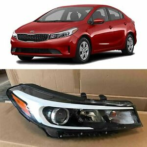 Headlight Replacement For 2017 2018 Kia Forte Halogen W o Led Right Passenger