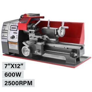 600w Brush Motor Mini Metal Lathe Woodworking Tool Milling Bench Top Machine