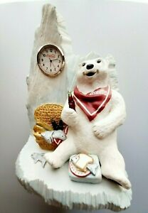 Christmas Coca-cola Clock Bear- Always Cool -with Bucket of Coke 💖👀