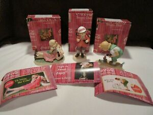 Enesco 1998 The Coca Cola Company Simpler Days - 3pc Set & COA's