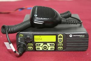 Mototrbo Xpr4580 Digital 800 900mhz Mobile With Palm Mic Model Aam27umh9lb1an