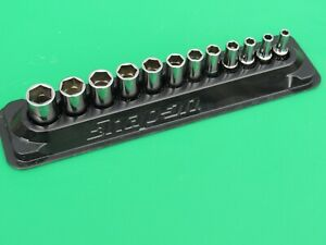 Snap On 112ytmmsy 1 4 5mm 15mm 6 Pt Metric Xtra Semi Deep Mid Socket Set W Tray