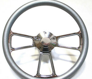 1961 1966 Dodge Dart Billet And Silver Steering Wheel Full Install Kit Horn