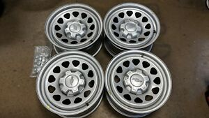 2019 Silverado Factory Silver Metallic Steel Work Truck Wheels And Caps 17