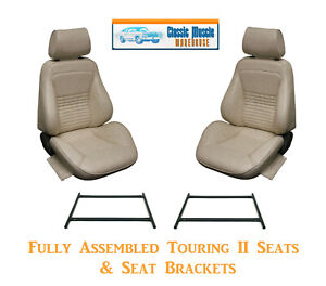 Standard Touring Ii Fully Assembled Seats Brackets 1967 Mustang Any Color