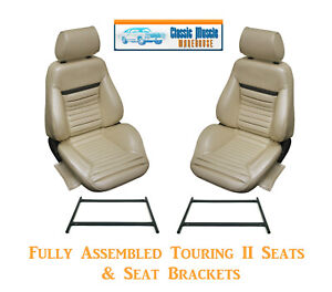 Mach 1 Touring Ii Fully Assembled Seats Brackets 1970 Mustang Any Color