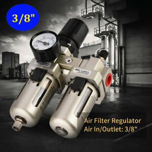 1pc 3 8 Air Compressor Filter Oil Water Separator Trap Tools W Regulator Gauge