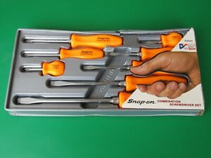 Nos Snap On Sddx80o Orange Hard Handle 8 Piece Screwdriver Set