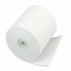 Iconex Direct Thermal Printing Thermal Paper Rolls 3 X 225 Ft White 24 carton